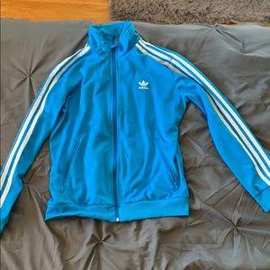 Adidas kids blue tracksuit